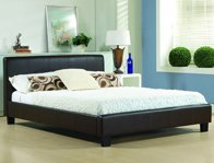 Time Living Hamburg Real Leather Bed Frame