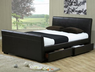 Time Living Houston 4 Drawer Faux Leather Bed Frame Discontinued