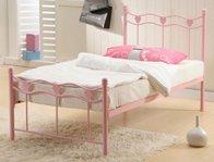 Time Living Madrid Pink Metal Bed Frame