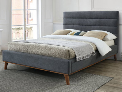 Time Living Naxos Fabric Bed Frame