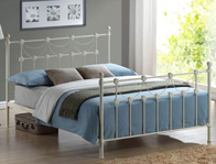 Time Living Omero Ivory Metal Bed Frame