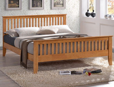 Time Living Turin Hardwood Bed Frame