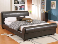 Time Living Valencia Faux Leather Bed Frame