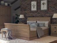 Versailles White Oak Sleigh Bed Frame