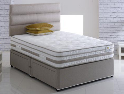 Vogue Ambience 2000 Pillow Top Pocket & Airstream Memory Foam Divan Set