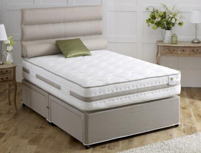 Vogue Bliss 1500 Pocket & Aistream Memory Fibre Divan Bed