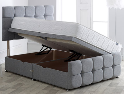 Vogue Dorchester Style Side Ottoman Bed Base