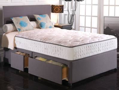 Vogue Empress 1500 Pocket & Blu Cool Memory Divan Bed