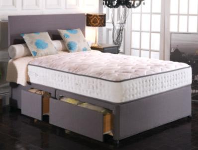 Vogue Empress 2000 Pocket & BluCool Memory Foam Divan Bed