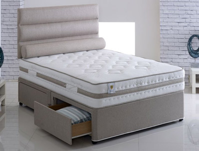Vogue Grace Coil & Memory Fibre Divan Bed