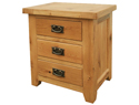 WashingBay Harvard 3 Drawer Bedside