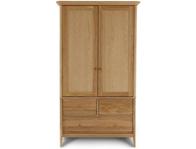 Willis Gambier 2 Door 3 Drawer Oak wardrobe