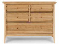 Willis Gambier Spirit 5 Drawer Wide Oak Chest