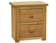 Windsor 2 Drawer Oak Bedside